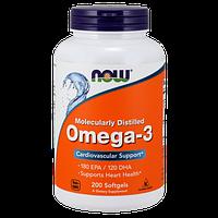 Комплекс незаменимых жирных кислот NOW Omega 3 (200 капс)