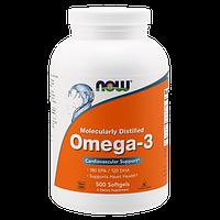Комплекс незамінних жирних кислот NOW Omega 3 (500 кап) (102887) Фірмовий товар!