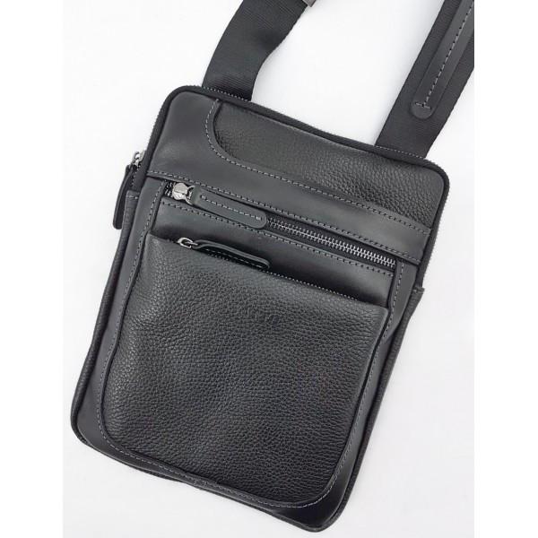 Кожаная мужская сумка через плечо Vatto
