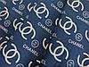 Ткань коттон стрейчевый рубашечный шанель, джинсовый темный