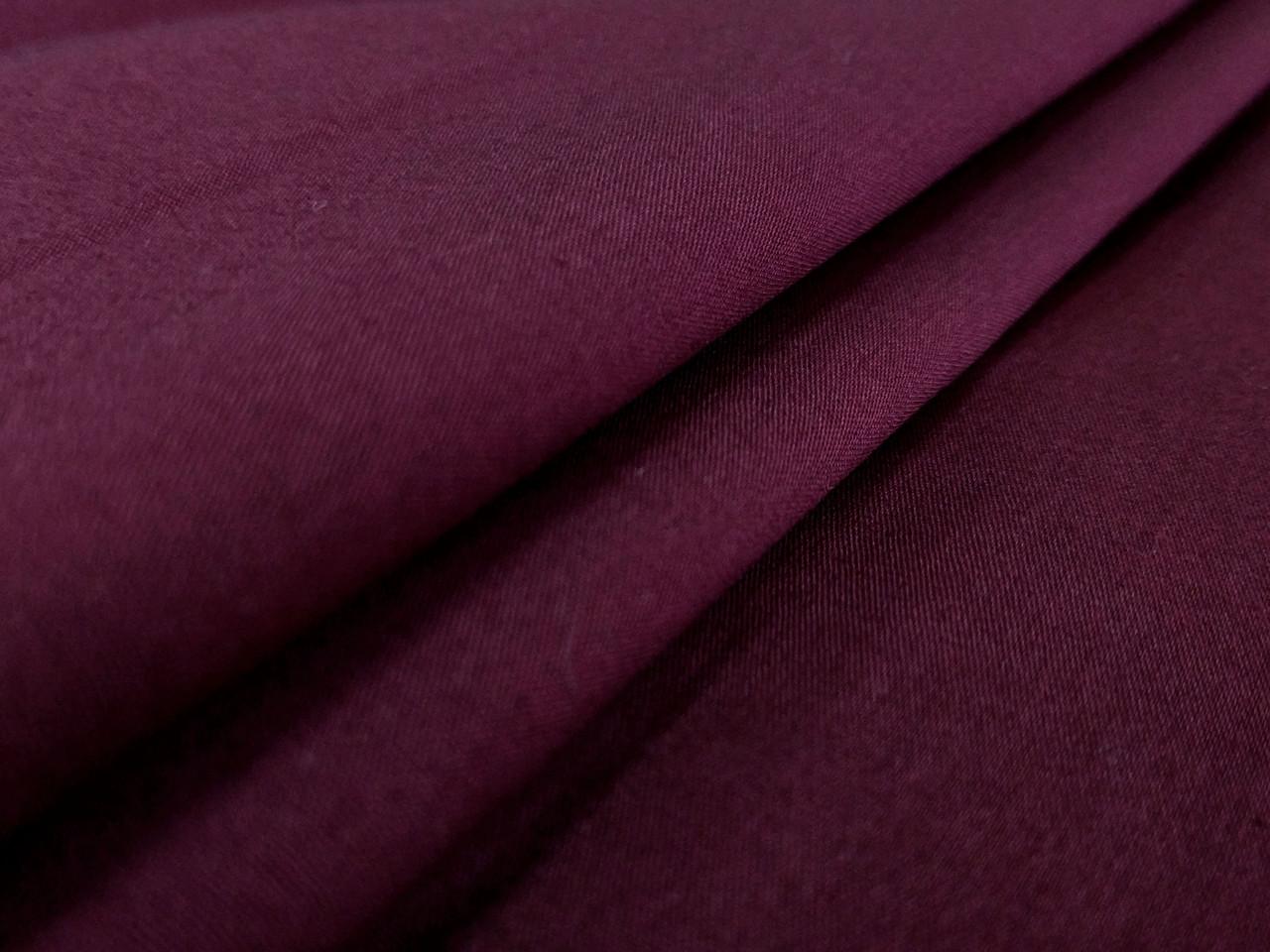Поплин стрейчевый рубашечный, бордовый