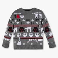 Детский свитер с рисунком Стар Варс для мальчика C A Германия Размер 116 6dc0c26633e4b