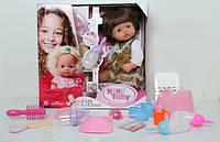 Кукла функциональная с горшком и памперсом