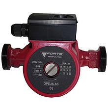 Циркуляційний насос FORTE GPD 25-4S-130, макс. подача 2,5м3, монтажна довжина 130мм