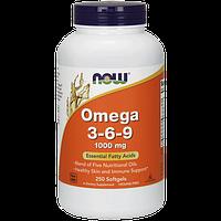 Комплекс незамінних жирних кислот NOW Omega 3-6-9 (250 кап) (102780) Фірмовий товар!