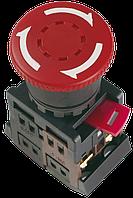 """Кнопка AE-22 """"Грибок"""" с фиксацией красный d22мм 240В 1з+1р  IEK"""