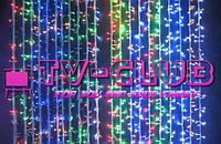 """LED гирлянда световой """"Дождь"""" на 600 лампочек 2х2.м"""