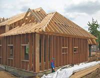 Деревянный каркас для каркасного дома из сухого бруса, фото 1