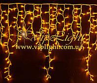 Светодиодный мини занавес Айсикл Плей Лайт (Жёлтый)