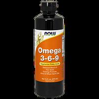 Комплекс незаменимых жирных кислот NOW Omega 3-6-9 Liquid 16 fl.oz. (473 мл)