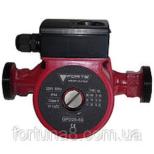 Циркуляційний насос FORTE GPD 25-6S-180, макс. подача 3.0м3, монтажна довжина 180 мм