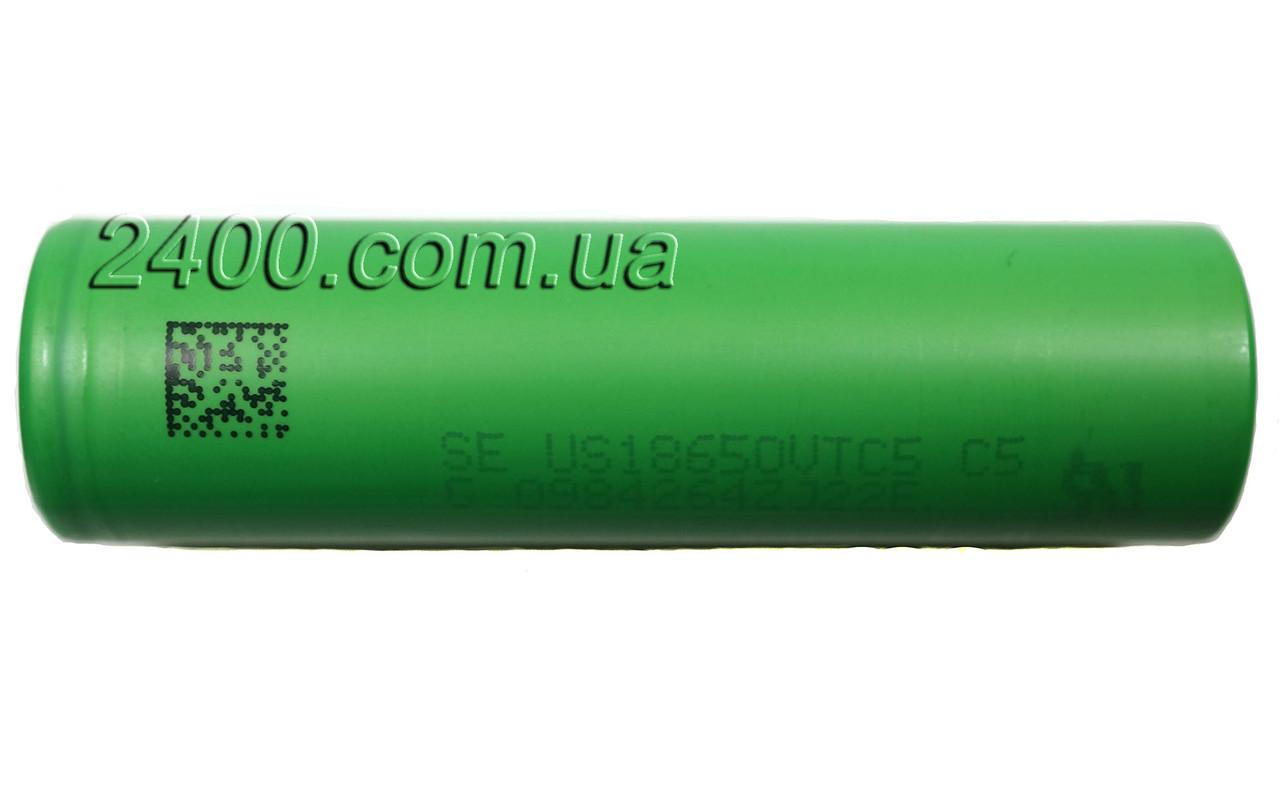 Универсальная аккумуляторная батарея 2600 мАч 18650 30А (2600mAh) Sony VTC5 для электронных сигарет