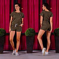 Женский летний спортивный костюм 1006 (S M L XL) (цвет хаки) СП