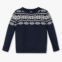 Зимний теплый свитер с орнаментом для мальчика 6-7 лет Размер 122