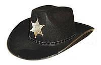 Шляпа Шерифа чёрный/ коричневый