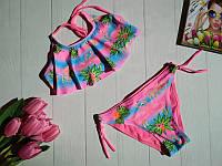 Раздельный купальник для девочки Фламинго 28-36 р