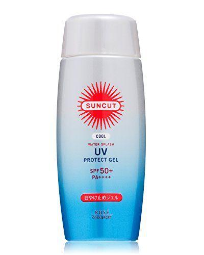 KOSE Солнцезащитный Охлаждающий Гель Cosmeport Suncut Protect Gel Cool Water Splash SPF50+ PA++++ 100g