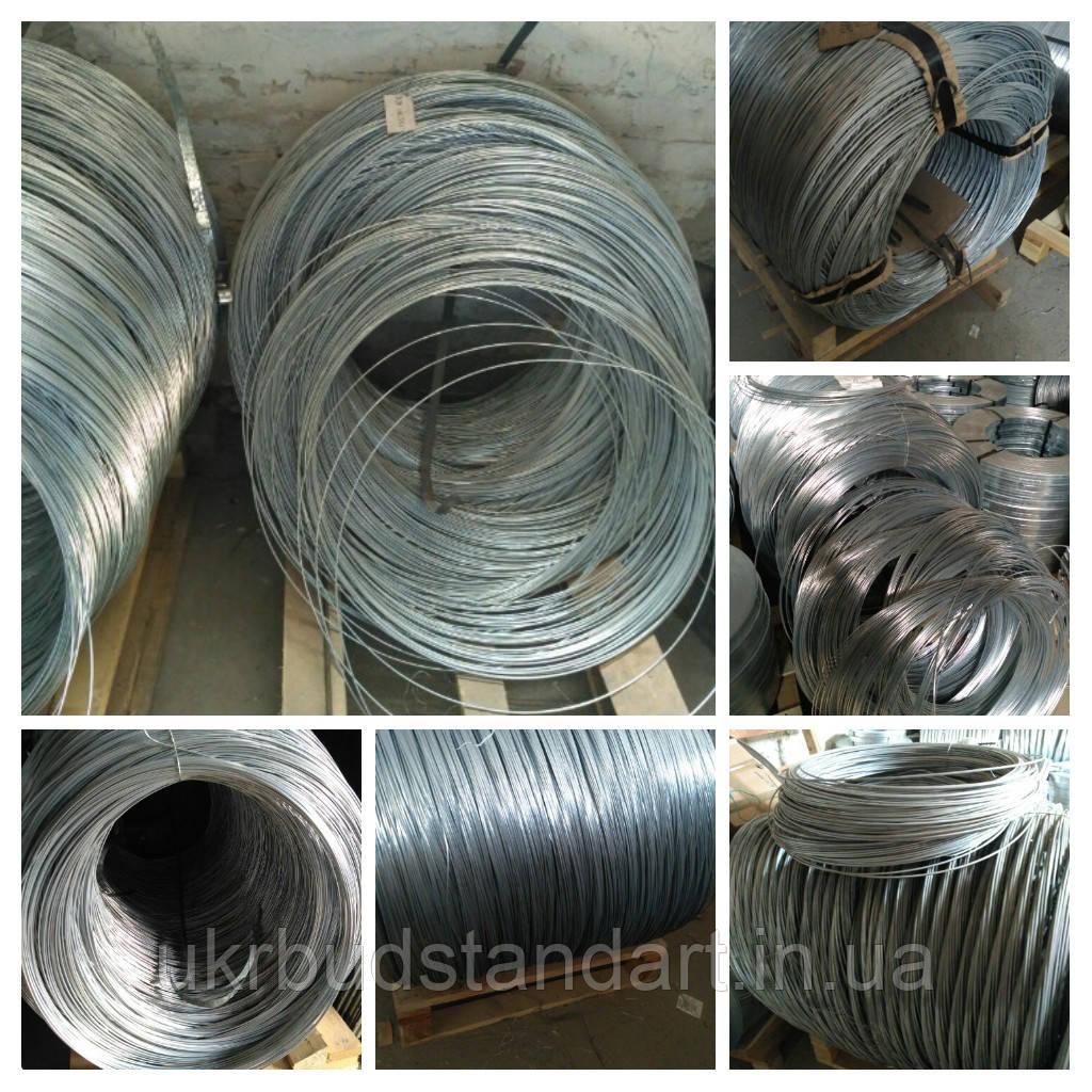 Проволока стальная оцинкованная термически обработанная Ф 2