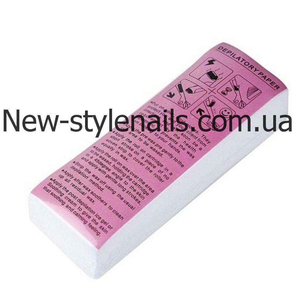 Бумага-полоски для депиляции, 100 штук в упаковке