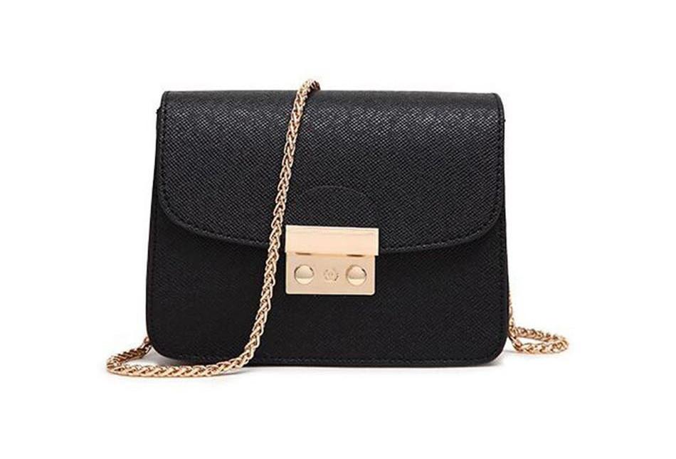 85df4f3f4fbd Сумка женская маленькая с замочком в стиле Furla Metropolis (черная) -  Интернет-магазин