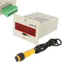 Система подсчета, счетчик промышленный цифровой 10-36В с фотодатчиком