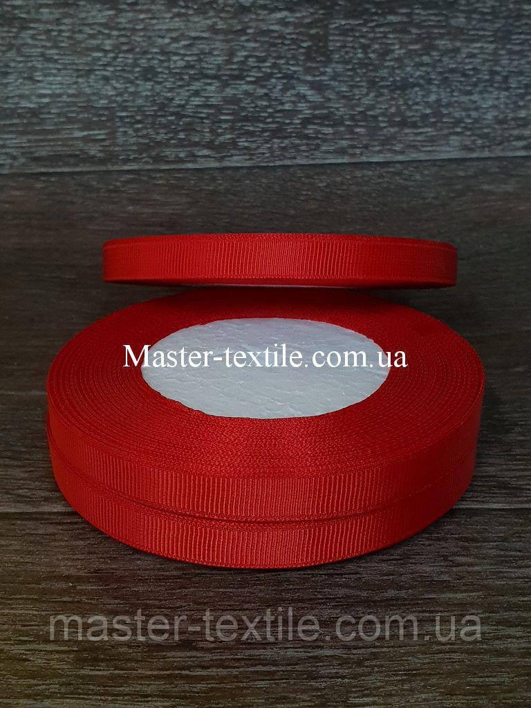 Репсовая лента ширина 1 см., 25 ярдов (красный)