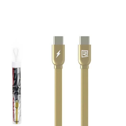 USB кабель Remax RC-046a Type-C to Type-C 1m Gold