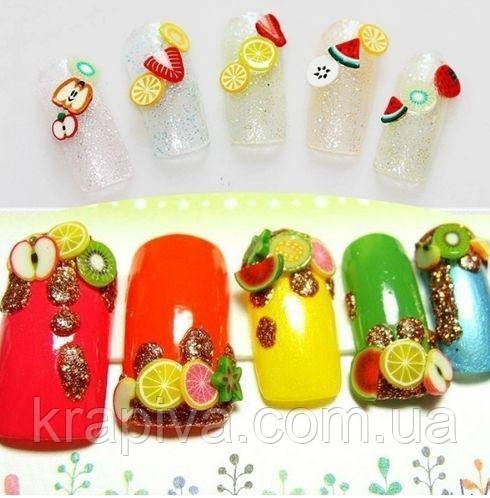 Фимо для ногтей 3D украшения, Fimo 1000 шт