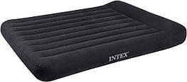 Надувний матрац вініловий Intex 66768 надувна ліжко з підголовником