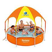 Детский бассейн с крышей Bestway 56432 (244х51)