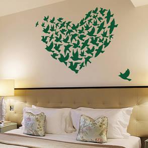 Интерьерная виниловая наклейка Heart of Birds, фото 2
