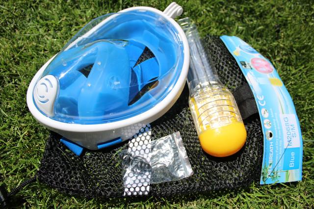 Комплектация инновационной маски для снорклинга EasyBreath