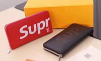 Портмоне (кошелек, клатч) Supreme - Louis Vuitton Суприм - Луи Виттон черный, синий, красный (реплика)