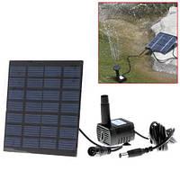 Фонтан на солнечных батареях с разными насадками