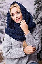 Вязаный темно-синий хомут/снуд/шарф Ricato