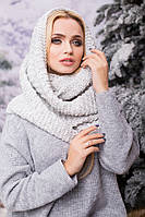 Вязаный серый хомут/снуд/шарф Ricato