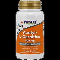 Л-карнитин NOW Acetyl L-Carnitine 500 мг (50 капс)