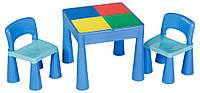 Стол и 2 стульчика Tega Mamut 899B малиновый-белый