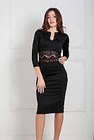 XS, S, M, L, XL / Вечернее трикотажное платье Mirena, черный