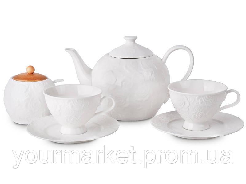 Сервиз чайный Белые розы 14 пр, чашка 180 мл Lefard 944-004