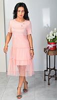 """Нарядное летнее платье """"Надежда"""" размеры 44-46,48-50"""