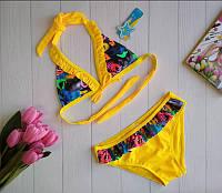Пляжный раздельный купальник для девочки 28-36 р, фото 1