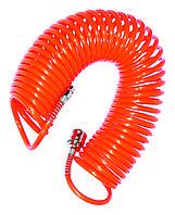 Шланг пневматический спиральный 10 м King
