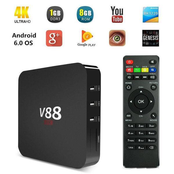ТВ-приставка Smart TV Box RK3229 4K Quad Core 8GB WiFi H.265 HD Media Player 1GB+8Gb 4 ядра Internet