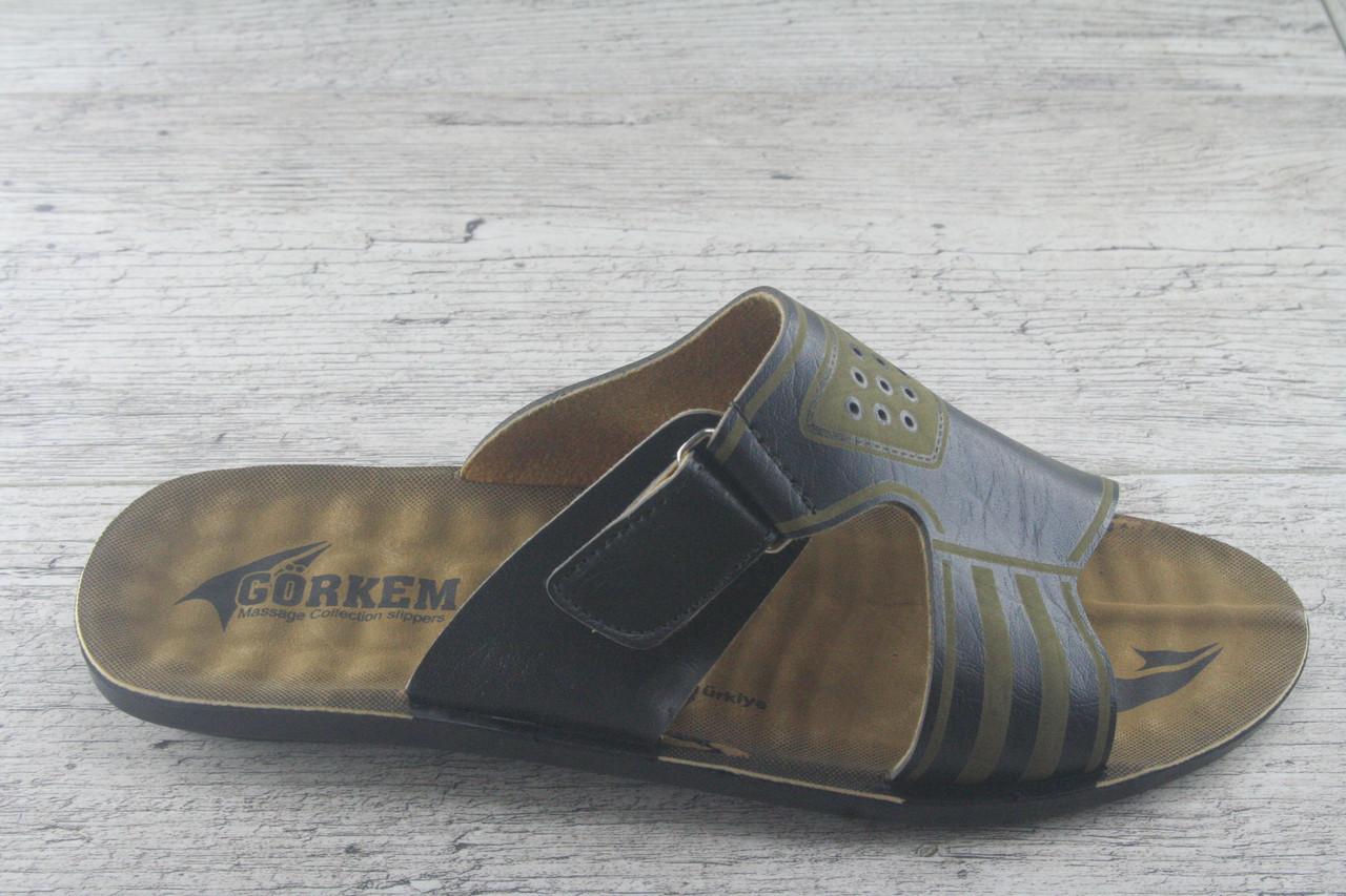 Шлепанцы, сланцы мужские, Gorkem Турция, обувь летняя, открытая, качественная
