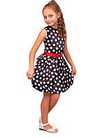 Платье нарядное детское из атласа с поясом М -977 рост 110 116 122 128, фото 1