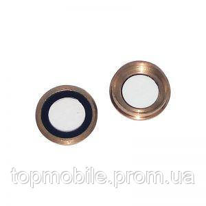Стекло камеры для iPhone 6 Plus, золотистое + кольцо