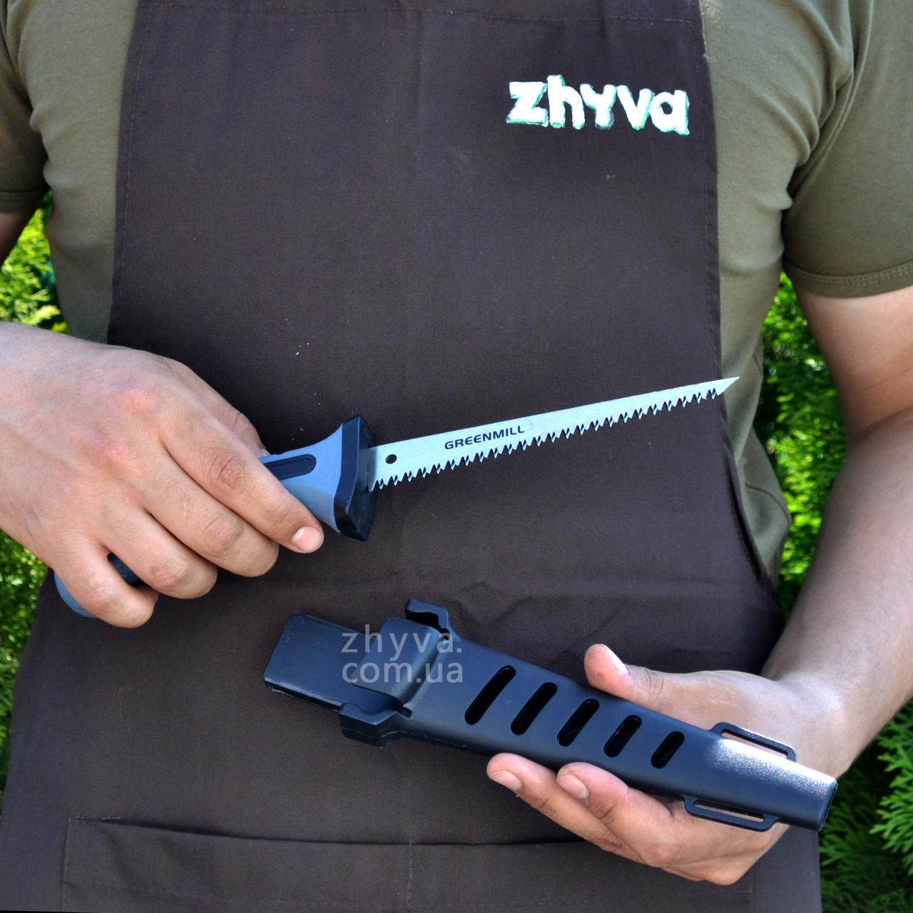 Пила ножівка з кобурою Greenmill Prof 15см