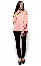 S-M / Літня жіноча блузка Jerry, персик