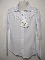 Детская блуза 6-9 школьная 20641